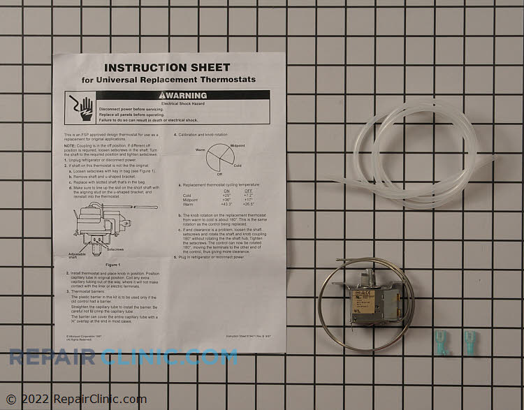 Temperature control thermostat kit