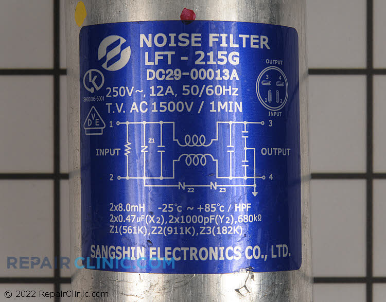 Noise Filter DC29-00013A Alternate Product View
