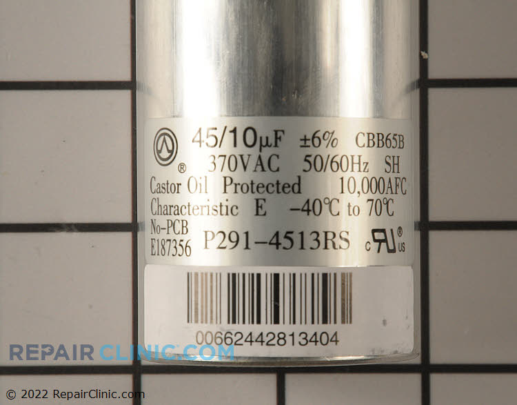 Run Capacitor P291-4513RS Alternate Product View