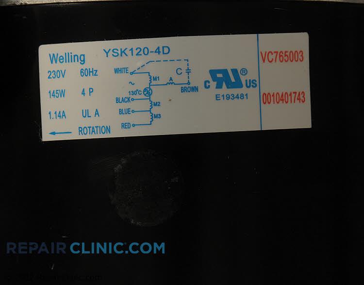 Fan Motor AC-4550-185     Alternate Product View