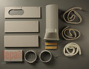 Portable air conditioner exhaust vent kit