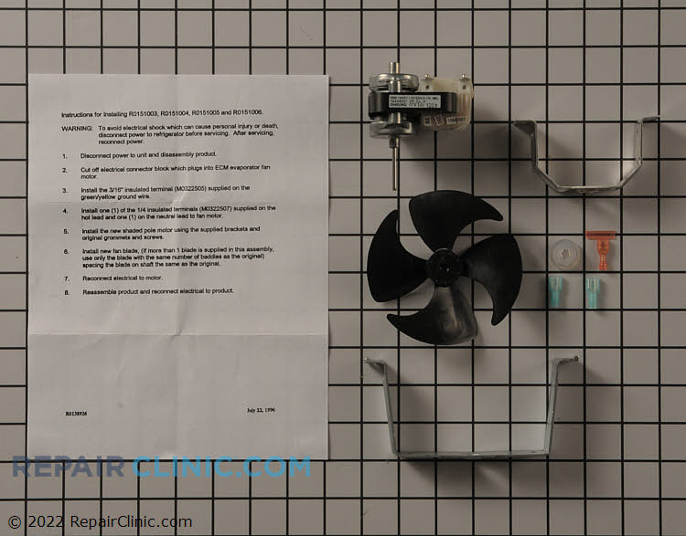Evaporator Fan Motor R0151005 Alternate Product View
