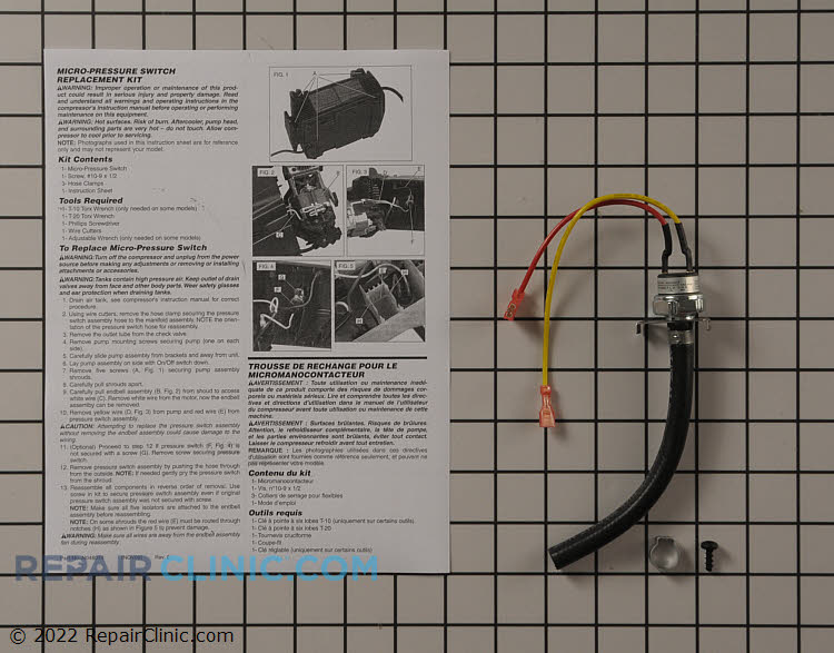 Pressure Switch N003307SV Alternate Product View