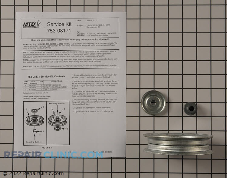 Idler Pulley 753-08171       Alternate Product View