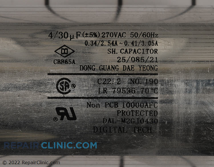 Capacitor 0CZZA20001F     Alternate Product View