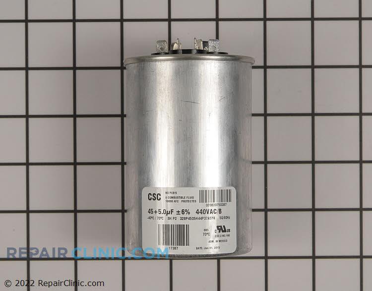 Dual run capacitor, round, 45/5 MFD, 440 volts