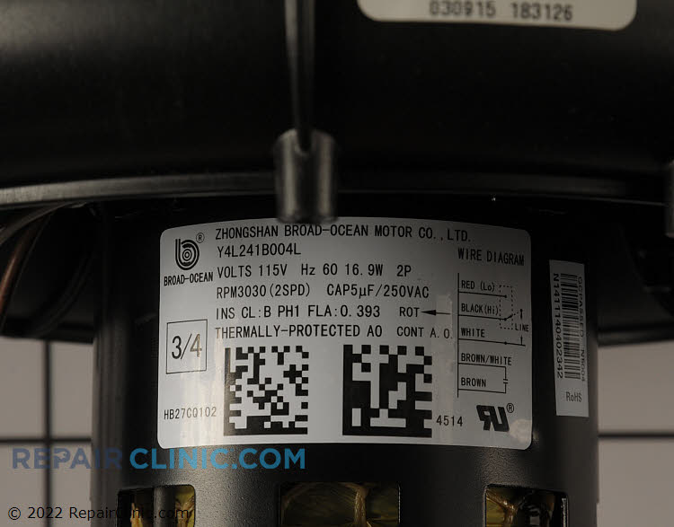 Draft Inducer Motor 337938-774-CBP Alternate Product View
