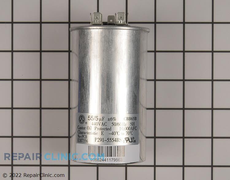 Dual run capacitor, round 440V 55/5 uF