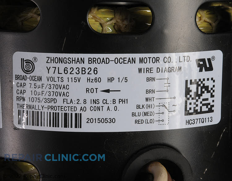 Blower Motor HC37TQ113 Alternate Product View