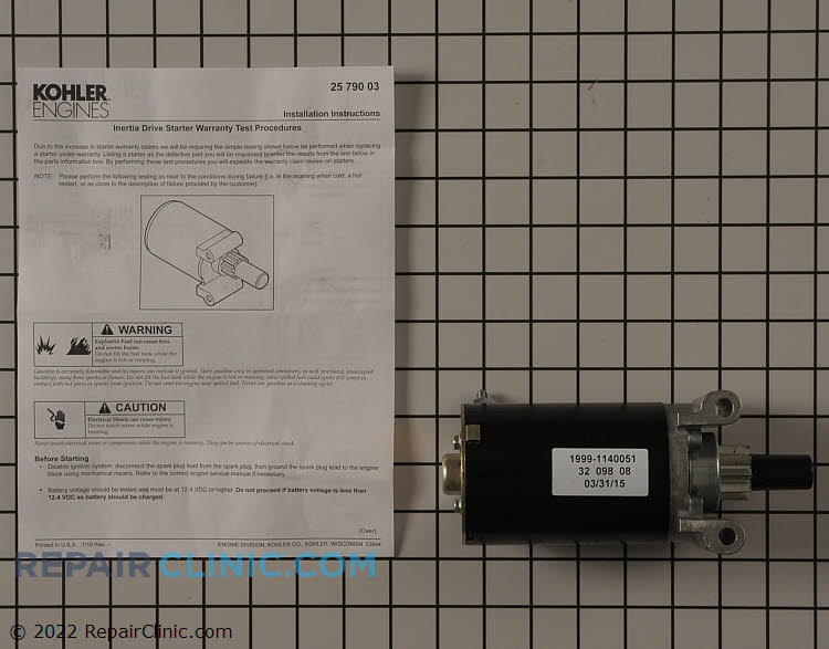 Electric Starter 32 098 08-S     Alternate Product View