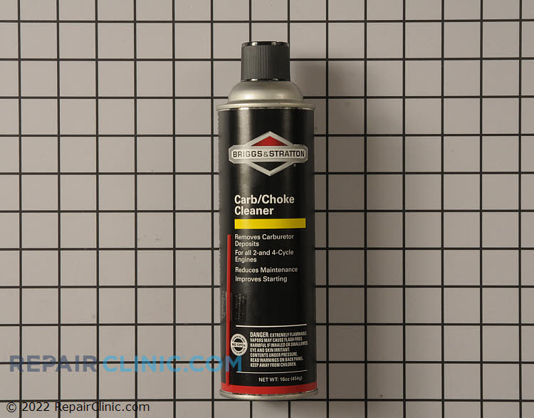 Single can of carburetor & choke cleaner-16oz. Made specifically for Briggs & Stratton engines, dissolves deposits in your carb and choke, reducing maintenance and downtime. Briggs & Stratton Original Equipment Manufacturer (OEM) parts are designed and engineered for Safety, Quality and Reliability.