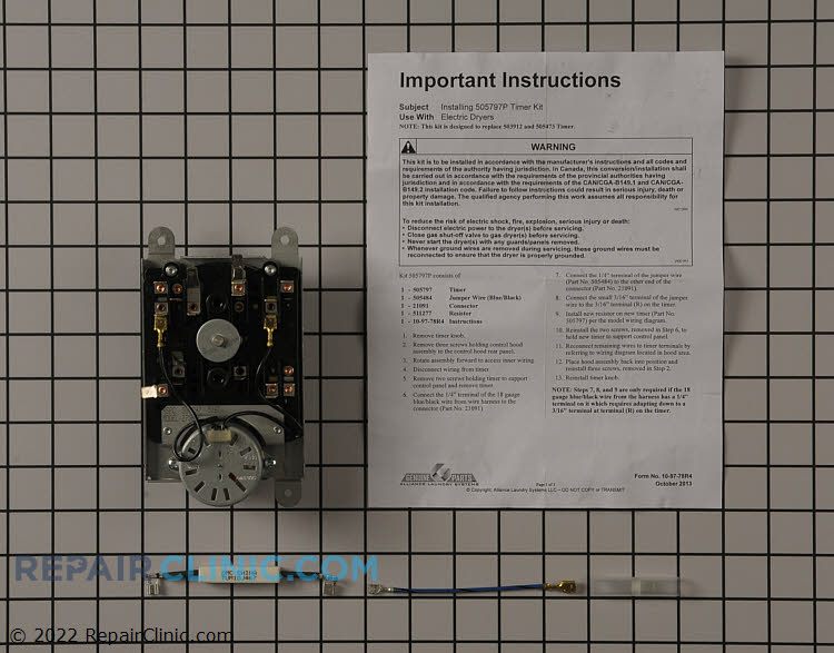 Timer kit with harness