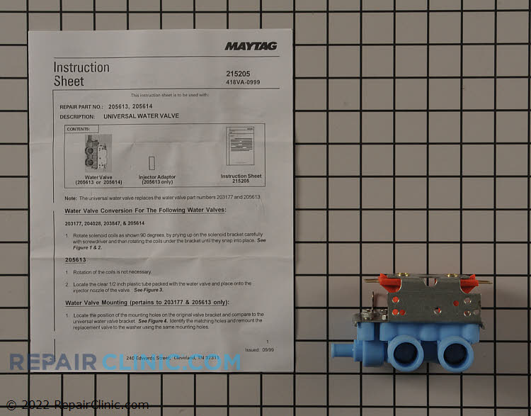 Water Inlet Valve 205613 Alternate Product View