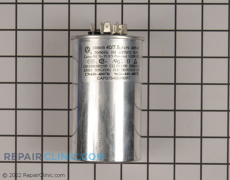 Dual Run Capacitor CAP075400440RTS Alternate Product View