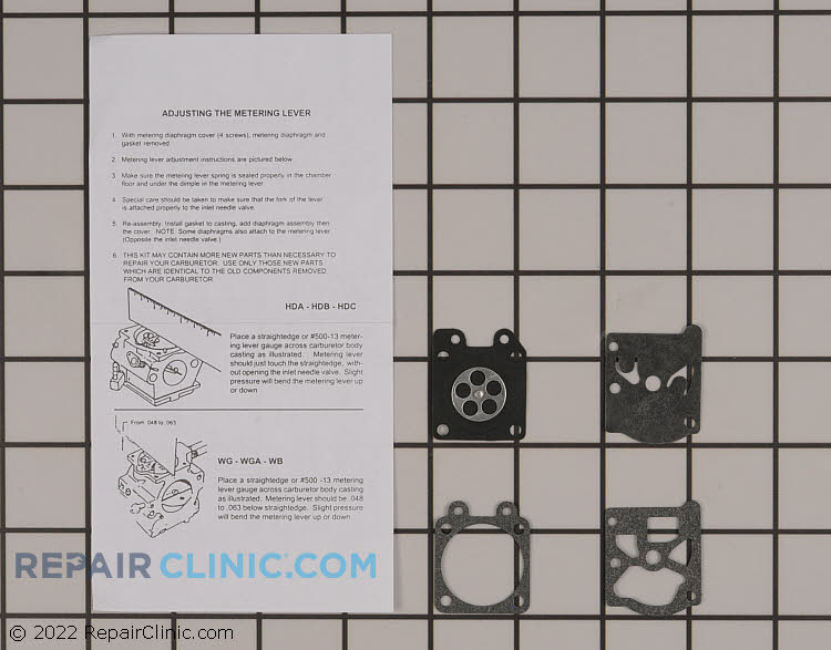 Gasket/diaphragm kit