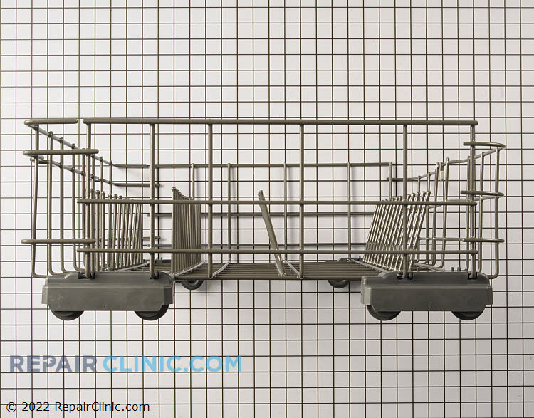 Lower dishrack. Old silverware basket will not fit in updated rack. Please see related item below.