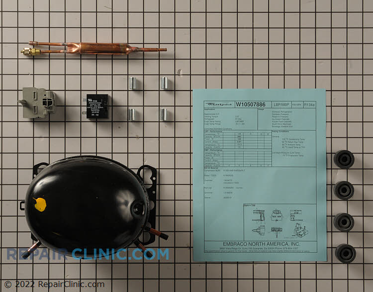 Compressor WPW10507886 Alternate Product View
