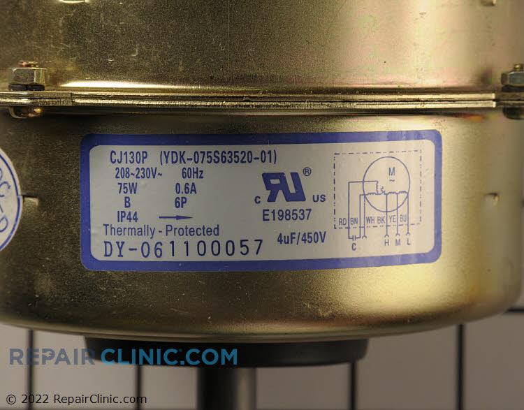 Fan Motor 150113051 Alternate Product View
