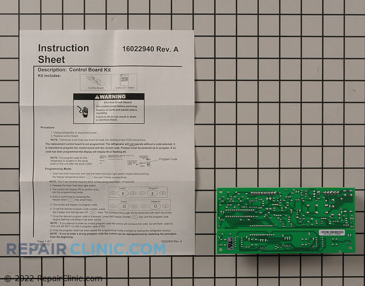Main Control Board WPW10503278 Alternate Product View