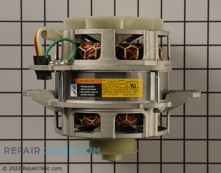 Washing machine main drive motor, 1/3 HP