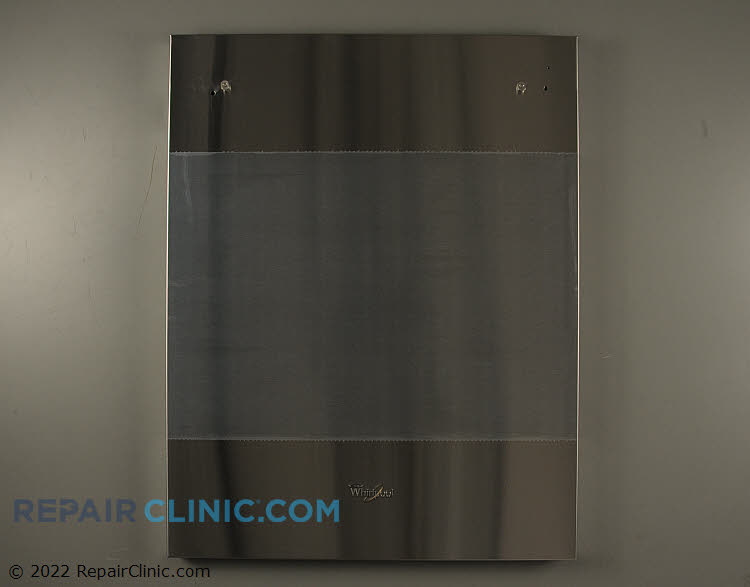 Front panel, stainless steel
