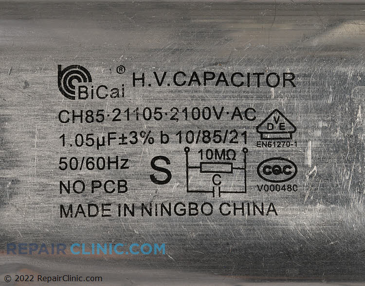 High Voltage Capacitor 0CZZW1H004S     Alternate Product View