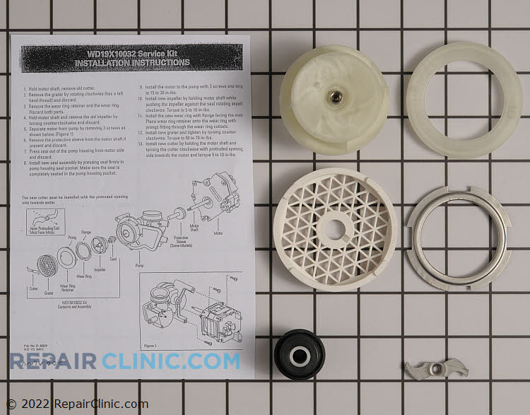 Impeller and Seal Kit WD19X10032 Alternate Product View