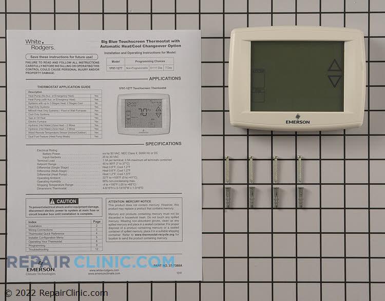 emerson thermostat manual 1f97 1277