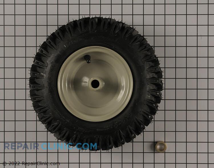 Tire/wheel- rh 13x4.00-6 pin lock