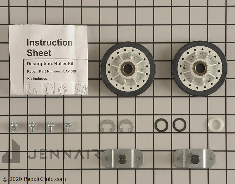 Drum Support Roller & Axle LA-1008 Alternate Product View