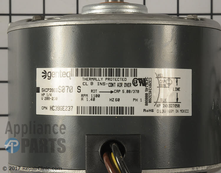 Condenser Fan Motor HC39GE237 Alternate Product View