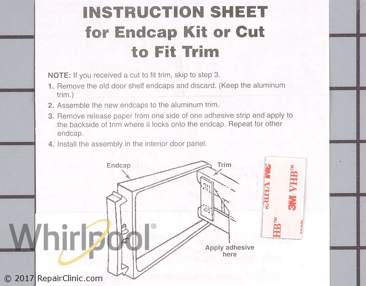 Shelf Retainer Bar Support 4318297 Alternate Product View