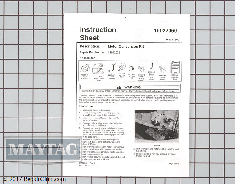 Drive Motor 12002039 Alternate Product View