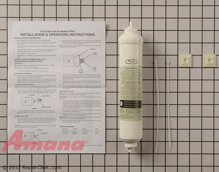 Water Filter 4378411RB Alternate Product View