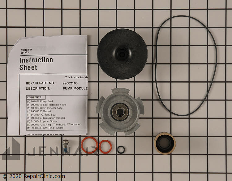 Impeller and Seal Kit WP6-915435 Alternate Product View