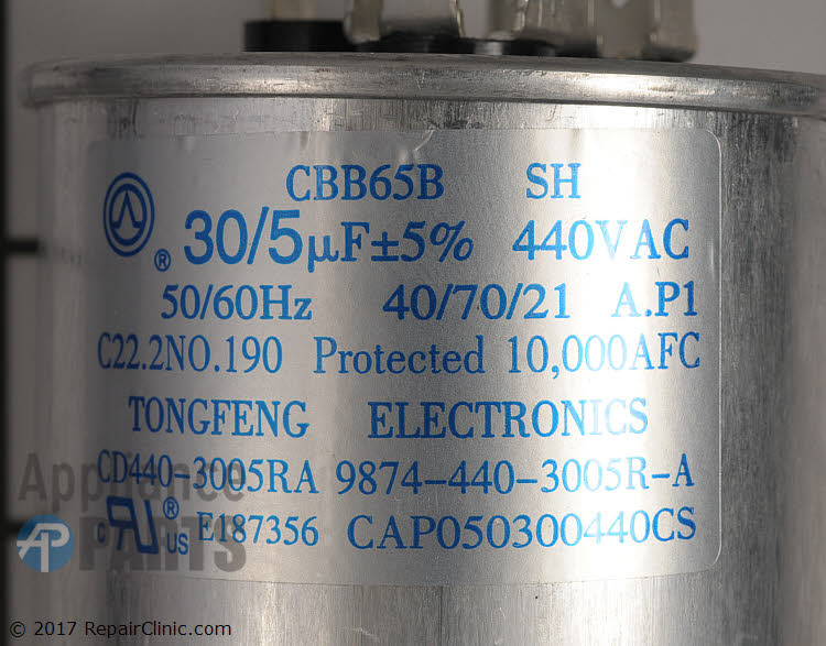 Dual Run Capacitor CAP050300440RSP Alternate Product View