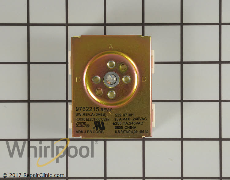Selector Switch WP9762215   Whirlpool Replacement Parts