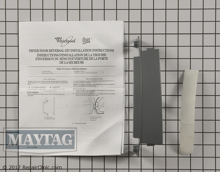 Door reversal kit 8579666arp | maytag replacement parts.