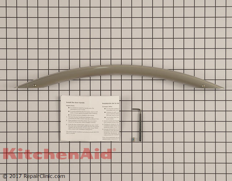 Door Handle W10195738a Kitchenaid Replacement Parts