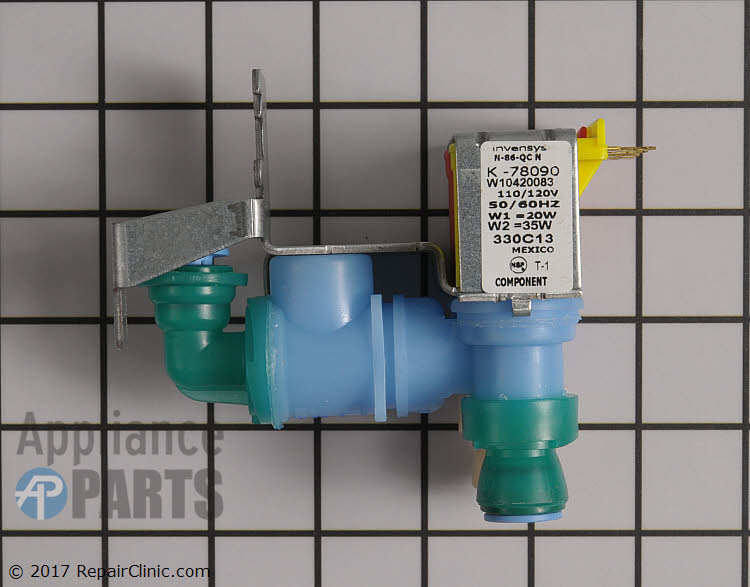 Water Inlet Valve WPW10420083 Alternate Product View