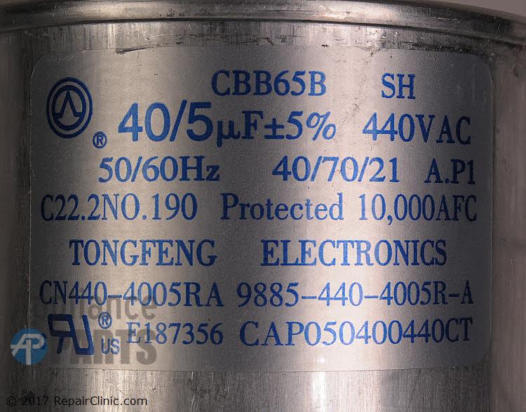 Dual Run Capacitor CAP050400440RTP Alternate Product View