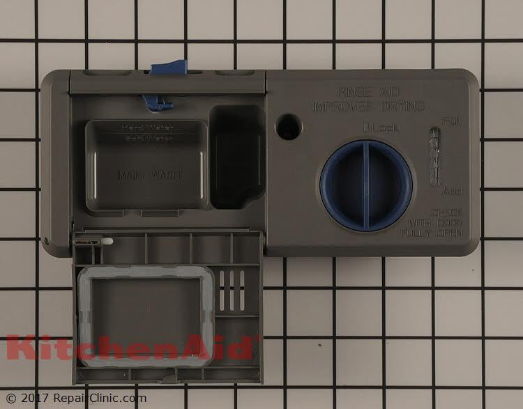 Detergent Dispenser Wpw10304408 Kitchenaid Replacement Parts