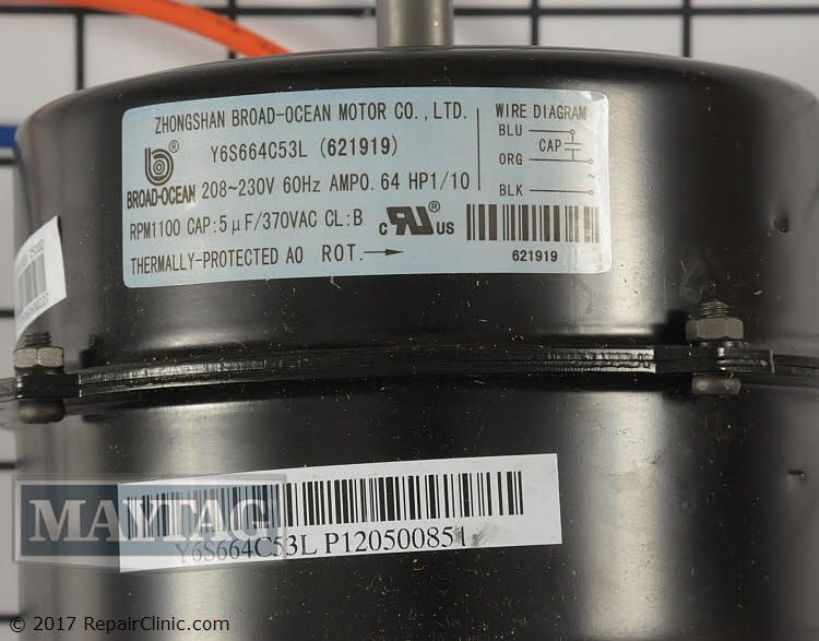 Condenser Fan Motor 621919 Alternate Product View