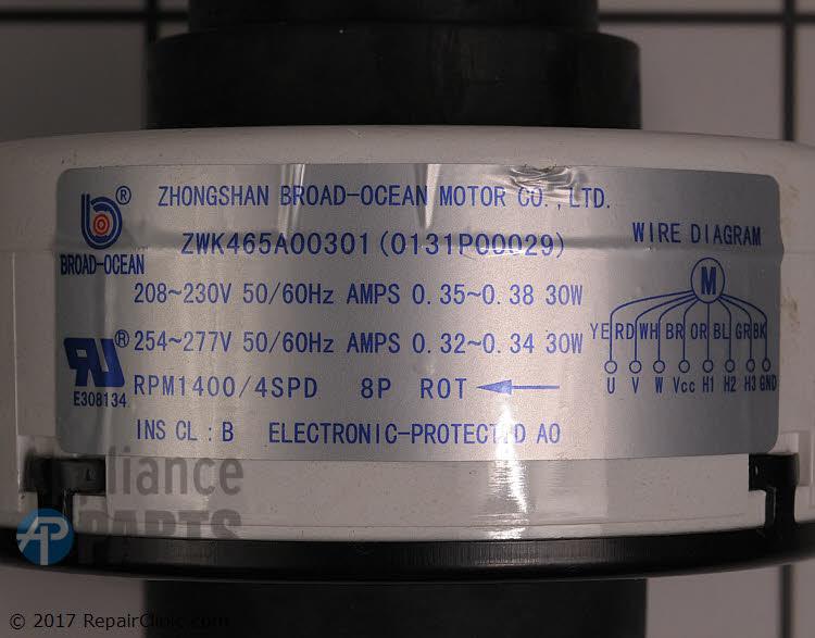 Fan Motor 0131P00029S Alternate Product View
