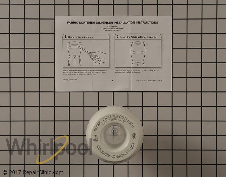 Fabric Softener Dispenser W10740584 Alternate Product View