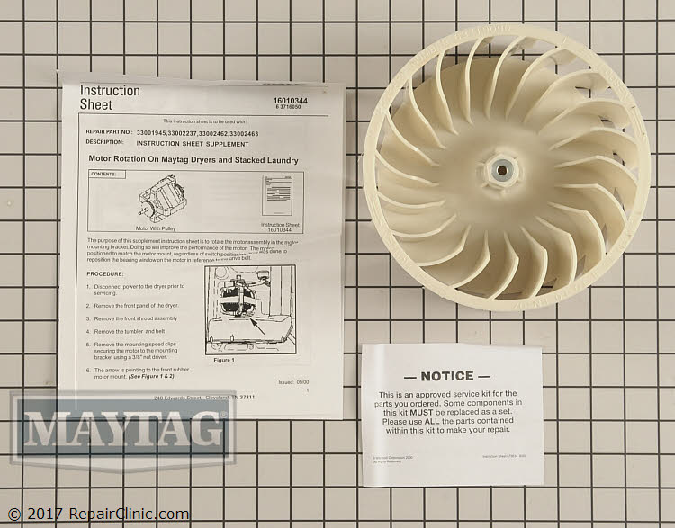 Drive Motor W10197708 Alternate Product View