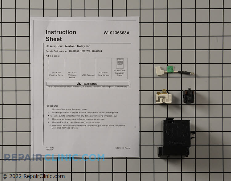 Relay and Overload Kit 12002782 Alternate Product View