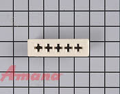 Ceramic Receptacle Block - Part # 1230850 Mfg Part # Y0042210