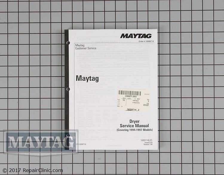 Repair Manual 16008714 Alternate Product View