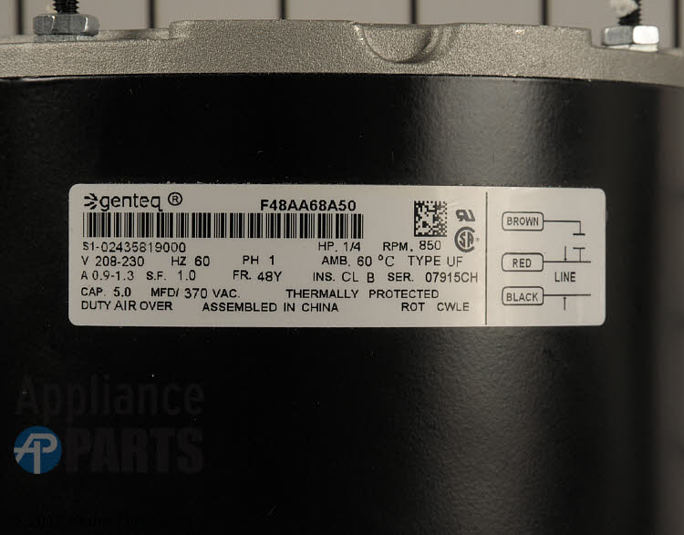 Condenser Fan Motor S1-02436237000  Alternate Product View